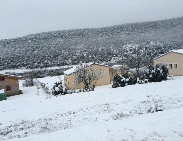 bastidou sous la neige